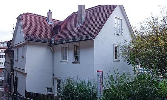 Foto des ehemaligen Wohnhauses von Elisabeth Schellenberg in Marburg an der Mühltreppe, das noch steht. Foto Ehrhardt