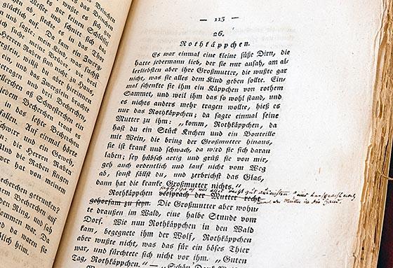 Handexemplar der Kinder- und Hausmärchen Copyright Stadt Kassel