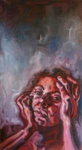 'In Gedanken', Öl auf Leinwand, 2016, 60 x 110 cm – ein akutelles Bild von Alina Fontain in der Ausstellung MenschenBilder.