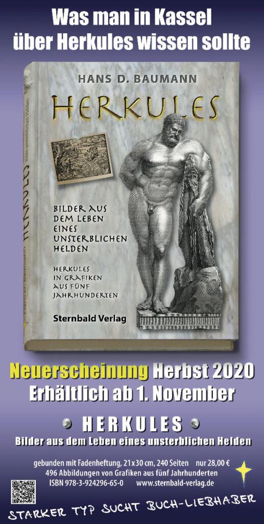 Mit einem Plakat wird der neue Herkules Bildband beworben. Gestaltung: Sternbald Factory | Doc Baumann